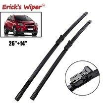 Lâminas de limpador dianteiras de erick lhd para chevrolet trax tracker 2012 - 2020 pára-brisas janela dianteira 26