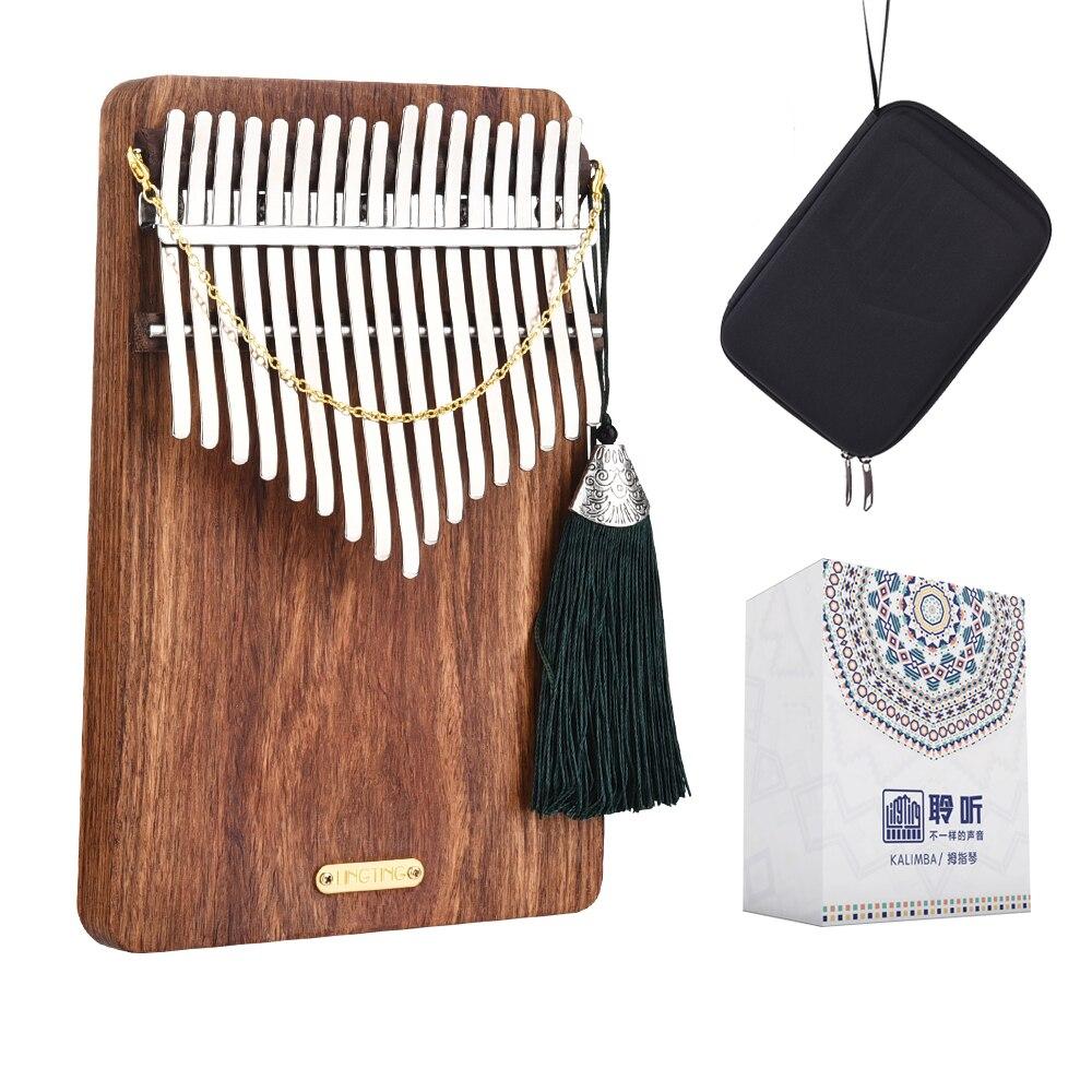 LingTing LT-K17P17 Keys Kalimba Mbira Thumb Piano(Listen To The Sea)