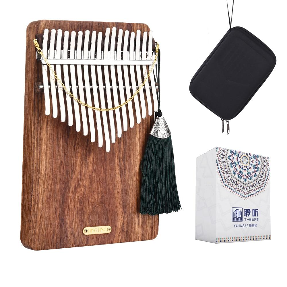 LingTing LT-K17P17 Keys Kalimba Mbira Thumb Piano(hearing Sea)