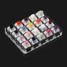 20 Key Caps Testing Tool Kailh Box Switches Keyboard Tester Kit Clear Keycaps Sampler PCB Mechanical Keyboard(China)