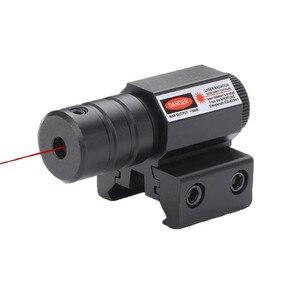 50-100M Range 635-655nm Red Dot Laser Sight Pistol Adjustable 11mm 20mm Picatinny Rail Hunting Accessory New(China)