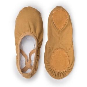 Image 5 - USHINE weiß qualität volle gummiband Ausübung Schuhe Yoga Hausschuhe Gym Kinder Ballett Tanz Schuhe Mädchen Frau Kinder ballerina