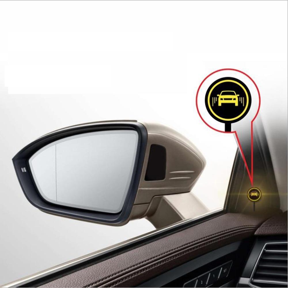 Sistema Universal de monitoreo de puntos ciegos para coche BSM microondas 2 sensor de radar 2 indicador LED 1 Detección de alarma cambio de carril Assit