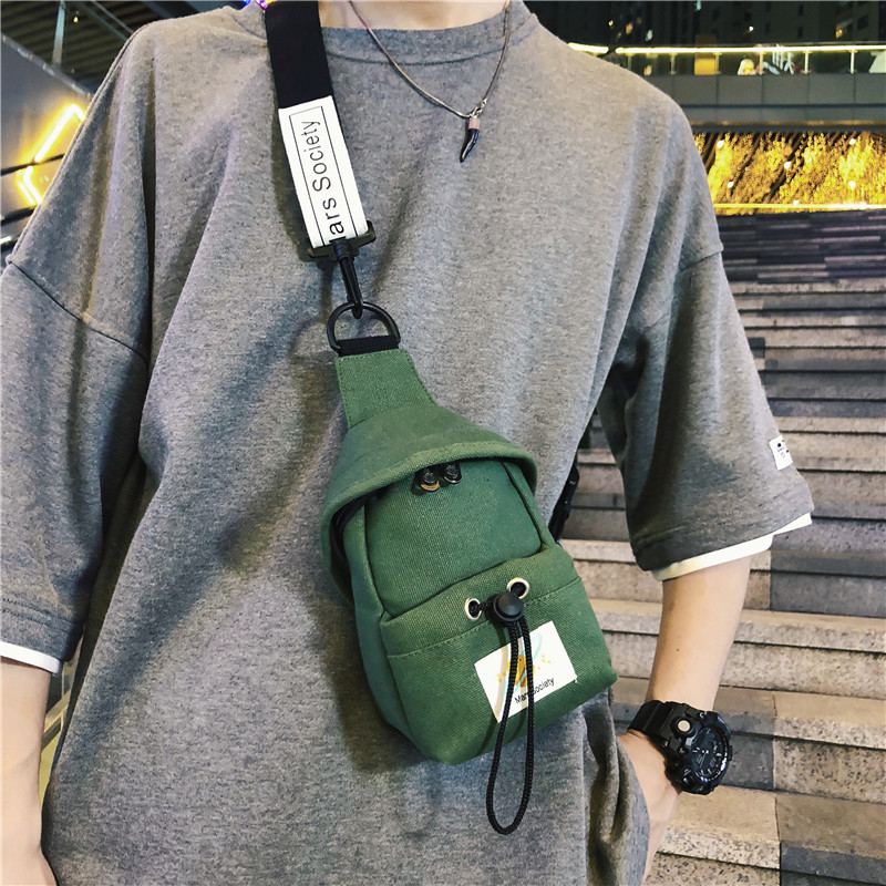 Shoulder Bag INS Fashion Backpack Women's Hip Hop Cool Casual Canvas Shoulder Bag Sports Men Chest Pack Popular Brand