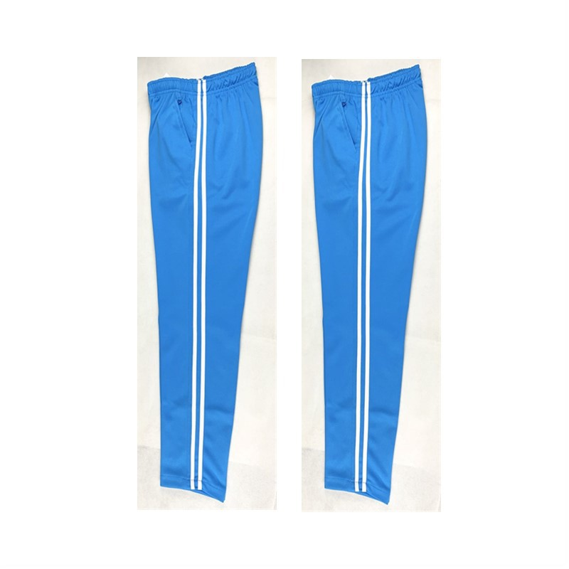 Summer Men Casual Sweatpants Men Jogger Basic Trousers Tracksuit Stripe Slim Thin Breathable Sportswear Sky Blue Track Pants