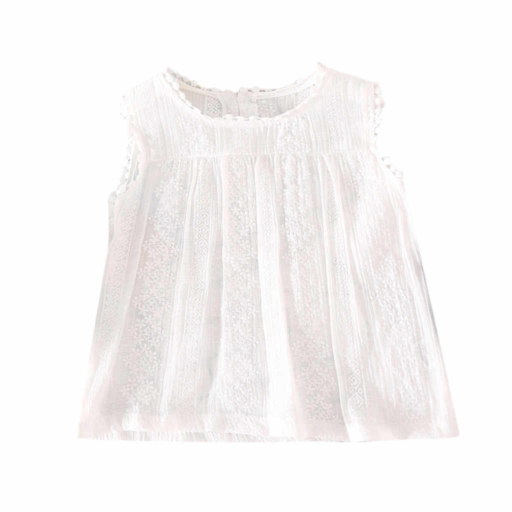 Bebé niñas verano dulce chaleco Ropa bebé niño niñas patchwork De encaje sólido Tops chaleco Casual Ropa para niños Ropa De niño 2020