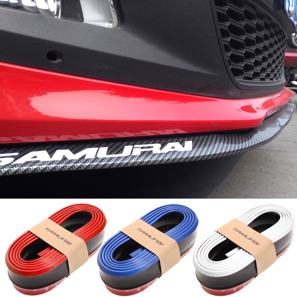 2.5m Bumper Protector Car Front Bumper Lip Splitter Car Sticker Car Styling Body Kit Spoiler Bumpers Rubber Car Protector