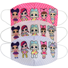 LOL Surprise Dolls Original Kids Cotton Masks Dustproof Breathable Anti-haze Sunscreen Washable Children Student Mask