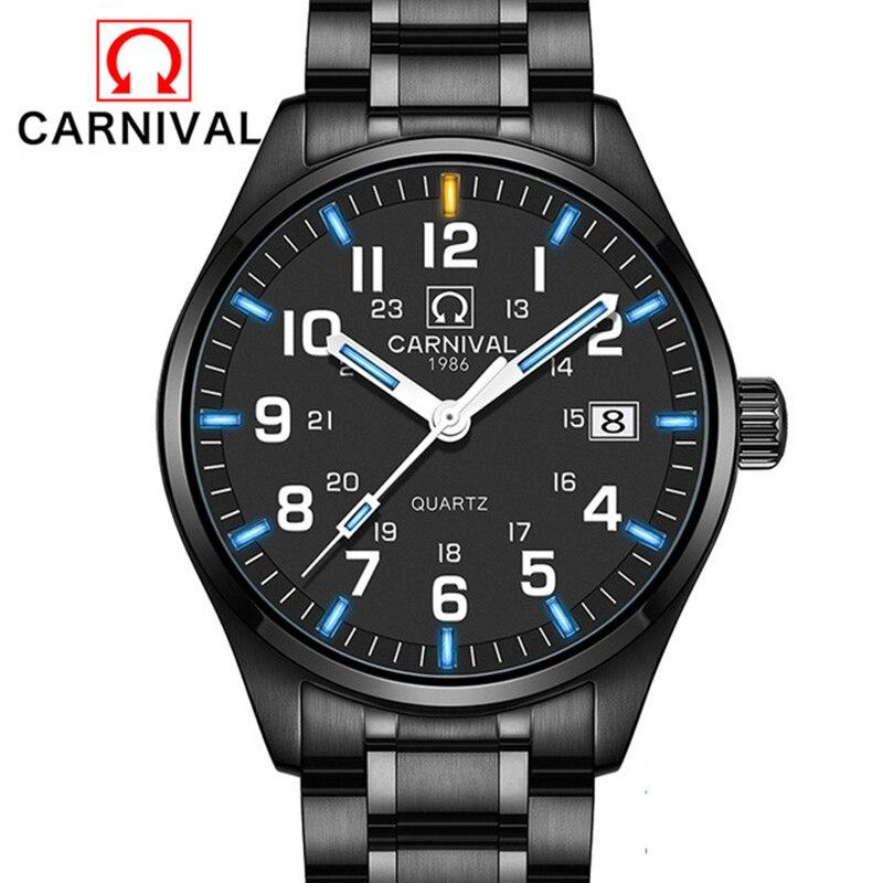 Carnaval T25 Tritium lumineux montre hommes militaires hommes montres haut de gamme de luxe Quartz montre bracelet mâle horloge Reloj Hombre 2019 - 3