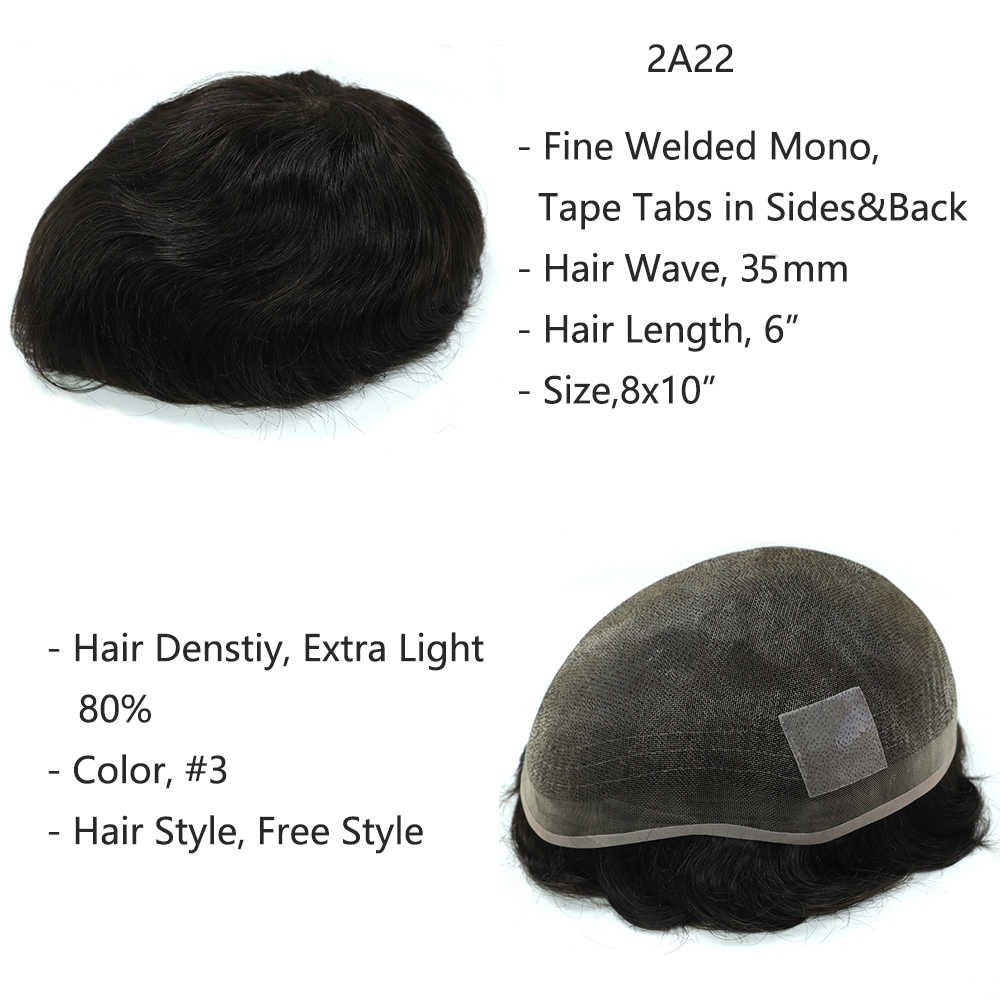 Распродажа мужской парик разных размеров для мужчин индийские накладки для волос