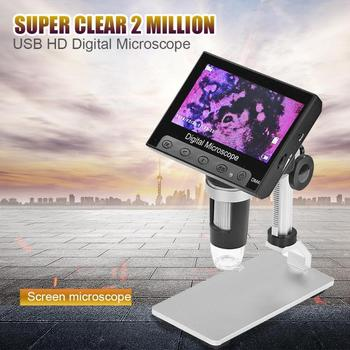 Digital Microscope Electronic Video Microscope Phone Repair Soldering Magnifier with 8 LED Lights Adjustable Brightness