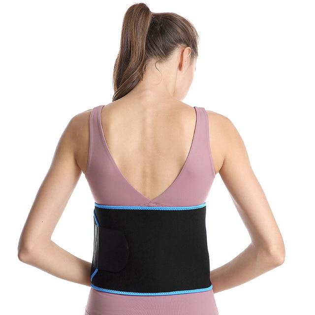 Women Slim Weight Loss Sweat Band Sports Waist Trimmer Belt Lumbar Brace Support Gym Weightlifting Training Fitness Accessories 1