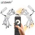 LEDIARY 12В мини точечный светодиодный светильник с регулируемой яркостью 24 лампы с четырьмя пультами управления  пульт дистанционного управле...