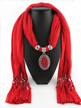 Oversized pendant model foreign trade su polyester scarf  resin gem accessories oval