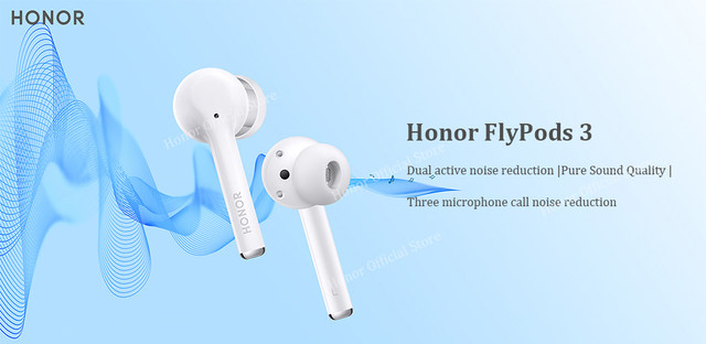 Huawei Honor FlyPods 3 Wireless Earphone TWS Three Microphone Noise Reduction Bluetooth 5.0 Waterproof IP54 Wireless Charge (8)