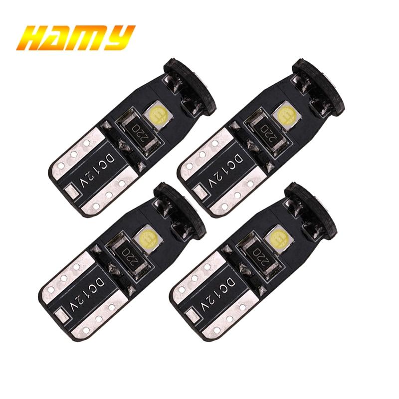 4pcs Car LED Bulb T10 W5W 194 LED Light Canbusl No Error White 12V 6000K 3030 SMD Super Bright Auto Interior Wedge Side Lamps