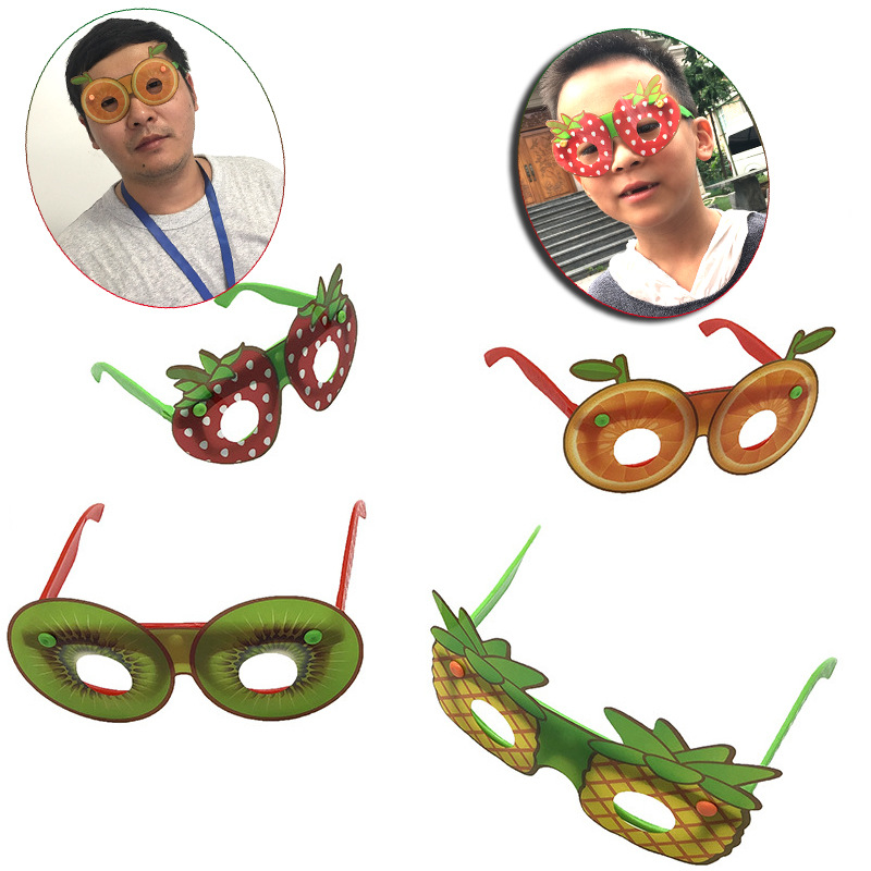New Style 1PCS Circular Fruit Glasses Minions Cosplay Costume Glasses Birthday Party Supplies Decoration Kids Funny Party Props