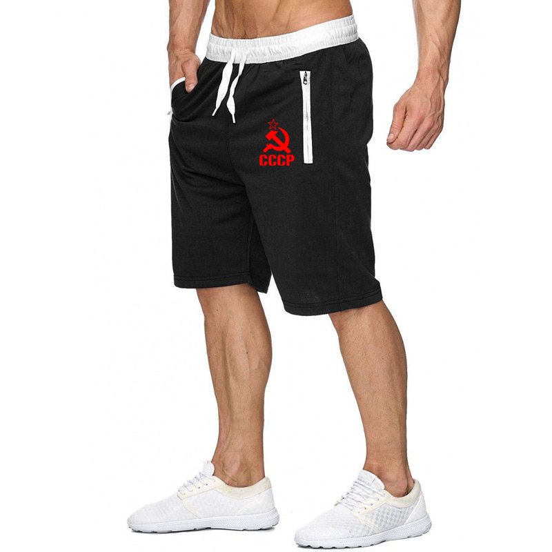 2020 New CCCP Russian USSR Soviet Union Print Men's Shorts Summer Mens Shorts Joggers Casual Male Shorts Homme Brand Clothing