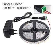 5 Meter 300Leds SMD RGB LED Strip Light 3528 2835 1M LED Light RGB Leds tape diode ribbon Flexible Controller DC 12V Adapter set(China)