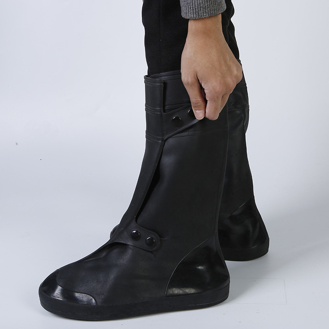 Non-slip Waterproof Shoe Covers Stain-resistant Rain Boots Portable Foldable