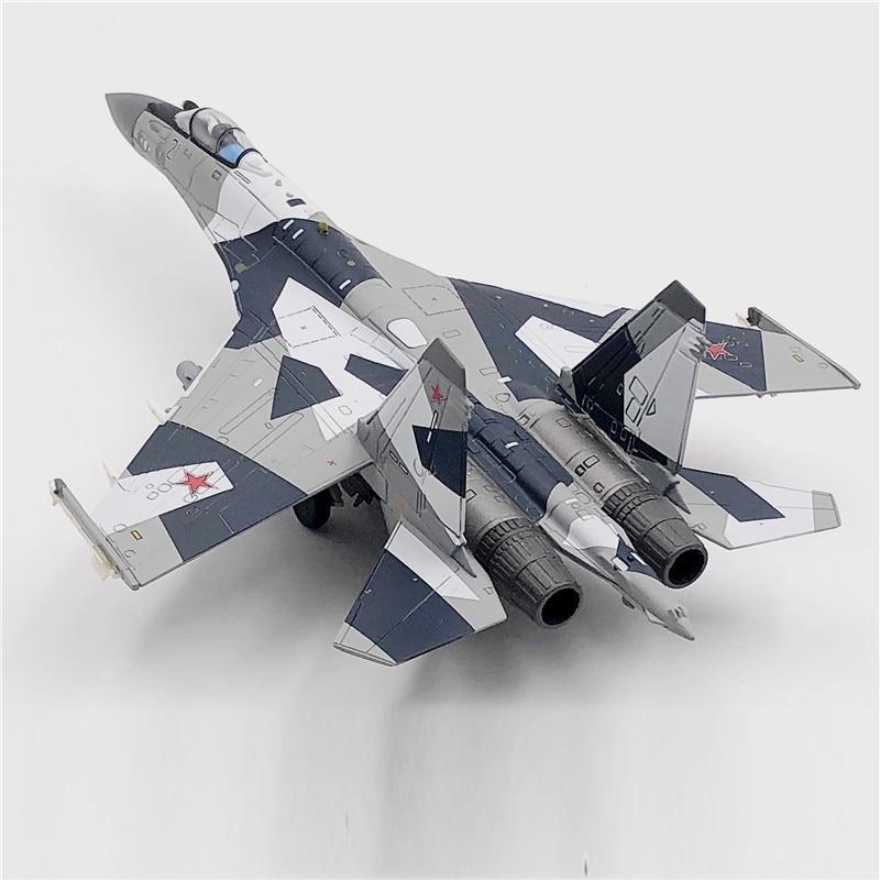 Модель самолета Jason TUTU, модель российского истребителя ВВС Su 35, модель самолета из сплава, Литые металлические самолеты масштаба 1:100