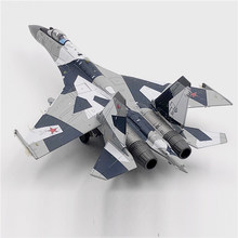 Jason TUTU Aircraft model Plane Russian Air Force fighter Su 35 airplane Alloy model diecast 1:100 scale metal Planes