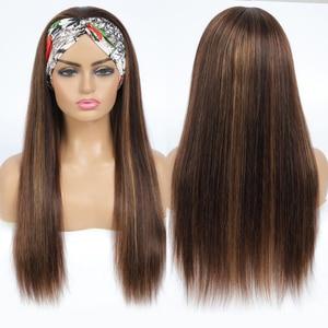 Image 3 - #4/27 destaque colorido perucas de cabelo humano bandana perucas de cabelo humano ombre remy peruca para preto feminino jarin cabelo