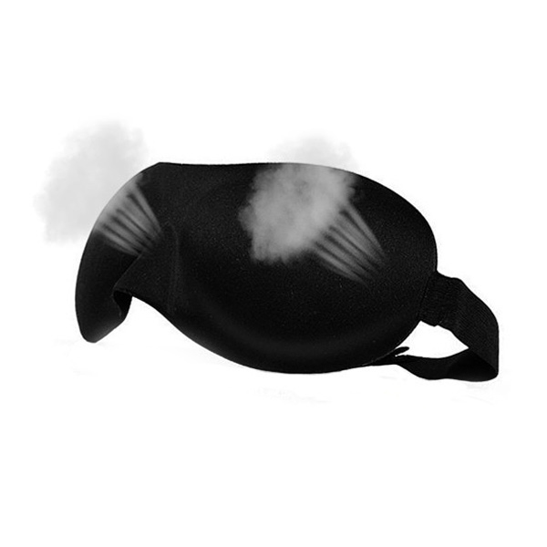Black 3D Sleep Mask 23*7.5cm Lightweight Soft Contoured Sleep Eye Mask Night Care Breathe Massager Eyes Cover Adjustable Size