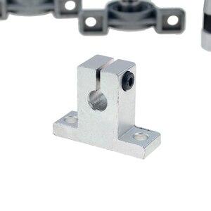 Image 2 - 3D drukarki szyny prowadzącej zestawy T8 śruba pociągowa długość 500mm + wał liniowy 8*500mm KP08 SK8 SC8UU osłona na nakrętki sprzęgła silnik krokowy