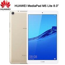 Officiële Huawei Mediapad M5 Lite 8.0 Inch Android 9 4G Lte Telefoongesprek Hisilicon Kirin 710 Octa Core Dual camera 5100 Mah Tablet