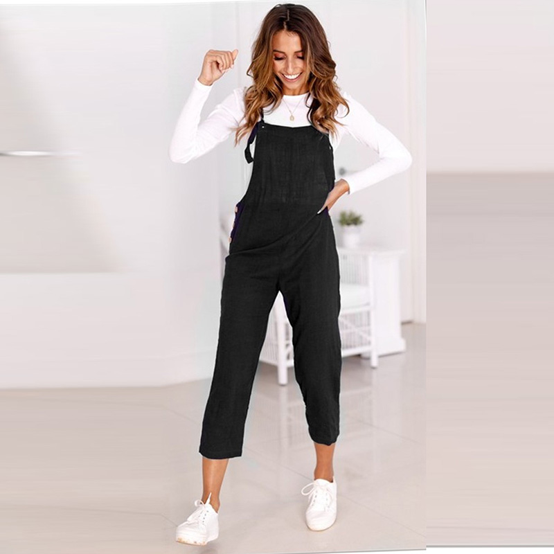 Bib Overalls For Women Jumpsuit Rompers Backless Strap Slim Trousers Playsuit Summer Casual Pants Jumpsuit Kombinezony