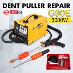 Extractor de abolladuras 3KW, soldador, Kit de reparación de vehículos, Panel de focos de abolladuras multipunto G90E para reparación de automóviles