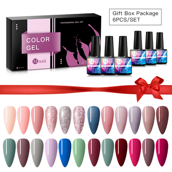 6pcs/set Color Nail Gel Polish Set For Manicure Vernis Semi Permanent Base Top Coat Soak Off UV LED Nails Gel Varnish Nail Art недорого