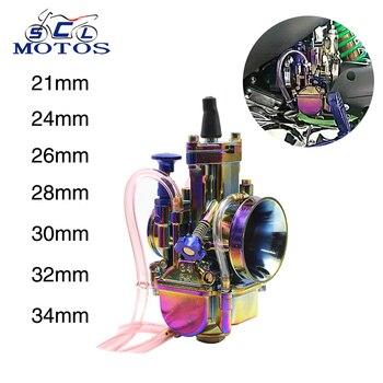 Carburador de motocicleta Sclmotos Keihin PWK 21 24 26 28 30 32 34mm con Power Jet Carb, Pit Bike de carreras 125cc 250cc para Honda KTM