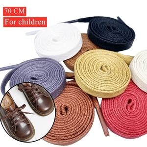 1 Pair 70 CM Waxed Flat Shoelaces Leather Waterproof Casual Shoes Laces Unisex Boots Shoelace off white Children's shoelaces