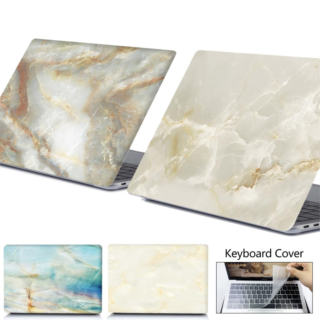 Marble Laptop Case For APPle MacBook A1932 Pro Air Retina 11 12 13 15 For Mac Book 15.4 13.3 Touch Bar A2159 + Keyboard Cover