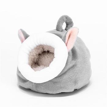 Casa de hámster cálido, cama cómoda de algodón para dormir, nido de mascota cálido para invierno, bolsa de dormir, casa de hámster, suministros para mascotas Samll Aniamls
