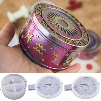 Dwanaście konstelacji gwiaździste niebo schowek lustro silikonowe formy dla DIY kryształ żywica gwiazda pudełko biżuteria narzędzia formy tanie i dobre opinie Fatalism 0 05kg resin mold SILICONE linki do biżuterii