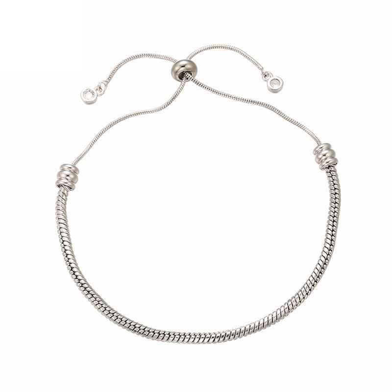 Fermeture à billes breloque réglable perles Bracelet blanc extensible fabrication de bijoux T4MD