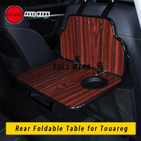 1pc Wood Folding Car Rear Hanging Table Tray Plate Pad Computer Cup Bottle Holder Support Mount for Touareg Interior Accessories