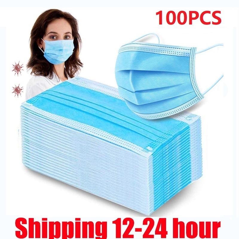 Disposable Protective Mask 3 Layers Dustproof Facial Protective Cover Masks Maldehyde Prevent Anti-pollution Face Masks
