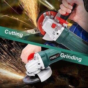 Image 4 - Elektrische Winkel Grinder 1050W 125mm Variable Geschwindigkeit 3000 10500RPM Toolless Schutz für Schneiden Schleifen Metall oder stein Arbeiten LANNERET