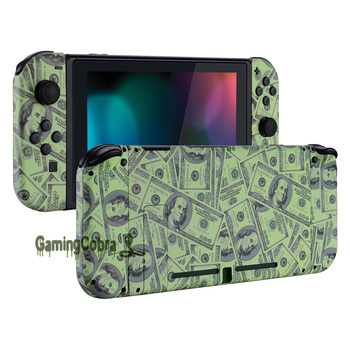 100$ Cash Money Patterned Soft Touch Grip Console Back Plate, Controller Housing Shell with Full Set Buttons for Nintendo Switch