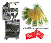 Small automatic peanut butter olive potato tomato sauce cookie seed pasta flow liquid pouch pack packing packaging machine