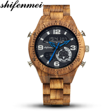 Shifenmei Wood Watches Men 2019 Fashion Quartz Wooden Top Lu