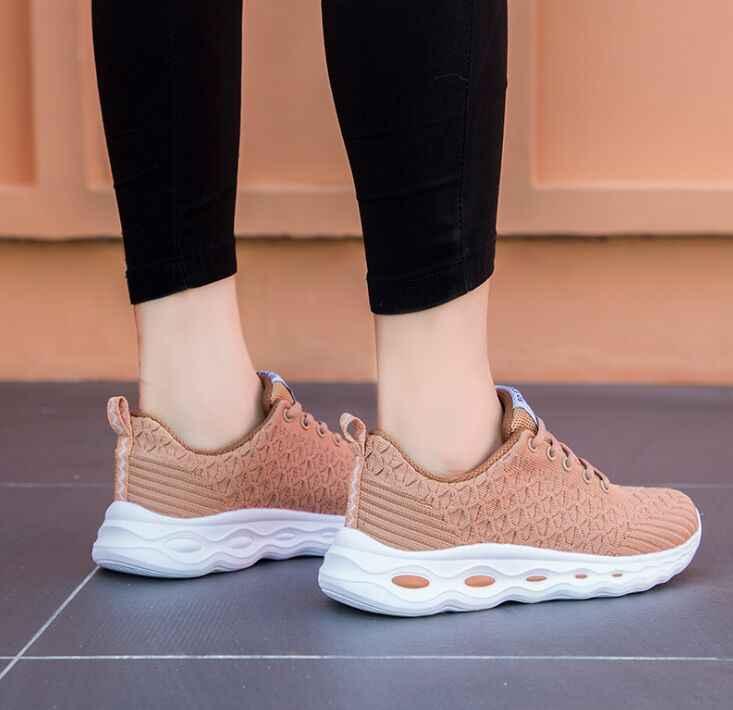 Di modo 2019 Primavera Pesce Bilancia casual Mesh Traspirante Scarpe Da Ginnastica Chaussure Femme Piatto di Sport Pattini Della Piattaforma Per Le Donne Zapatos Mujer