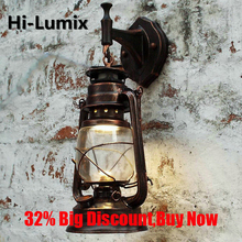 бра European Retro LED Wall Lamp Vintage Kerosene Lamps Light Fixture For Bar Coffee Shop Bathroom Sconce pendant lights