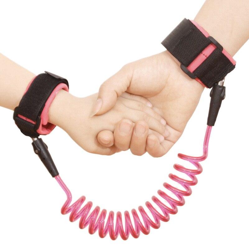 Анти-потеря веревки анти-потеря жгут ремень для прогулок детский ручной 1,5 м ручной прогулочный канат ремень поводок на запястье