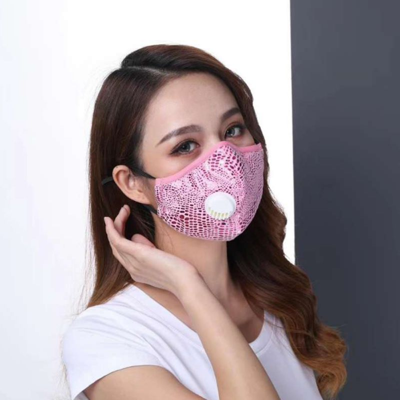 Children Adult Respirator Mask With Breathing Exhaust Valve Cotton Washable Activated Carbon Filter PM2.5 Mouth Masks Suit