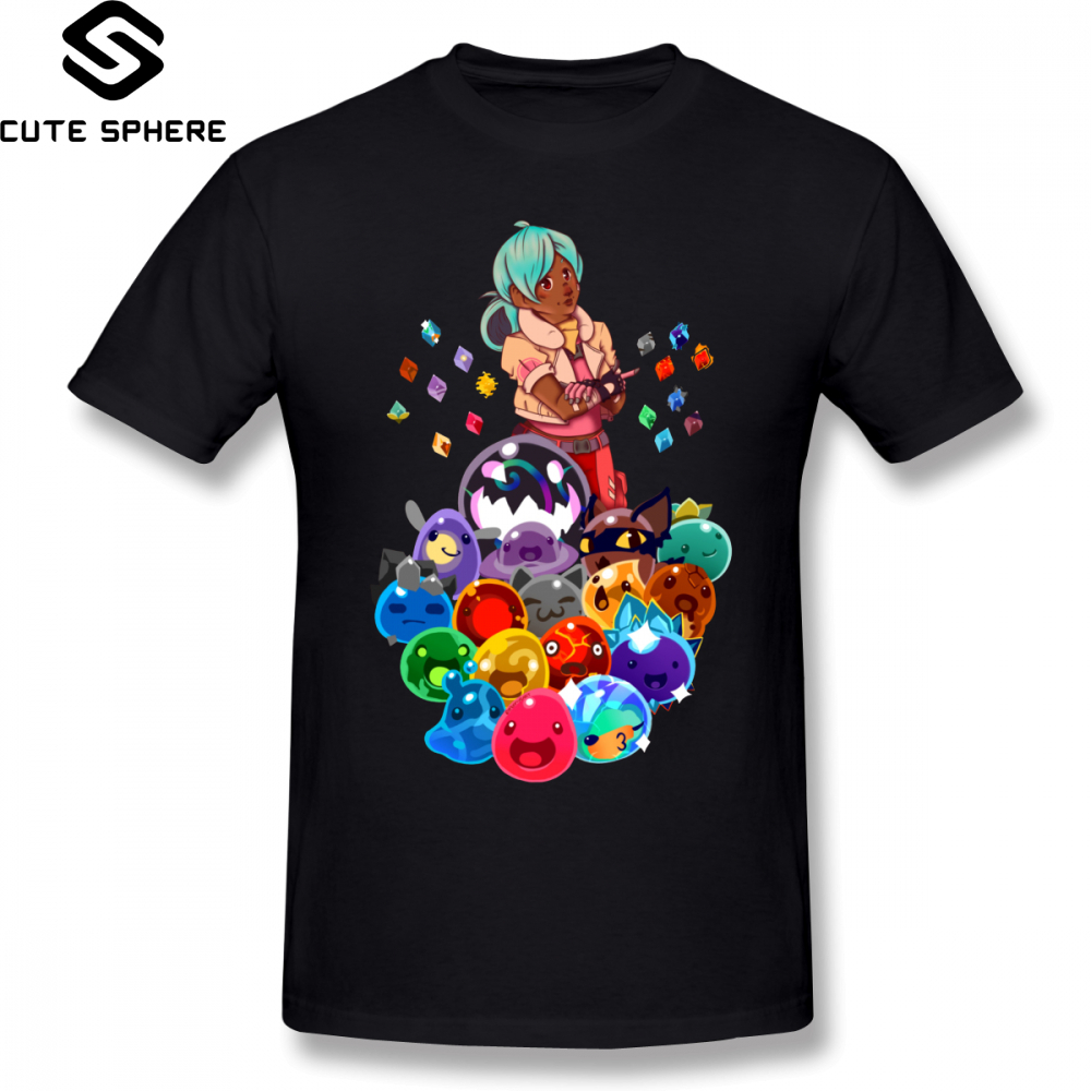 <font><b>Slime</b></font> <font><b>Rancher</b></font> T <font><b>Shirt</b></font> Pile O <font><b>Slimes</b></font> T-<font><b>Shirt</b></font> Streetwear Short Sleeve Tee <font><b>Shirt</b></font> Men 100 Percent Cotton XXX Graphic Awesome Tshirt image